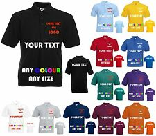 Custom Printed Personalised Polo Shirts Front and Back for Workwear, Clubs, Stag