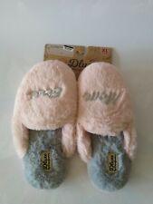 Dluxe By Dearfoams Super Soft Faux Fur Memory Foam  Slippers