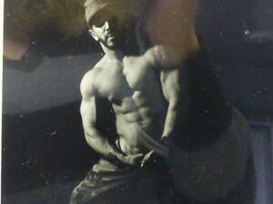 """1997 Vince Gabrielly Photograph Framed 11.75"""" Suggestive Male Beefcake"""
