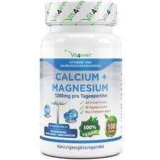Calcium & Magnesium 100 Tabletten (vegan) für 50 Tage! 1200 mg Portion Muskeln