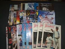 1991-2003 NEW YORK YANKEES PROGRAM MAGAZINE SCOREBOOK - LOT OF 30 - O 2440K