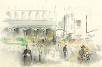 Louis Valentine, St Mark's Square, Venice Italy – Mid-20th-century watercolour