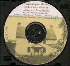 George & Mary Boone Family Genealogy  - Kentucky