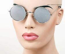 Round Silver John Lennon Vintage Style Sunglasses Silver Mirror 8MIR