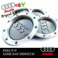 AUDI RS4  SILVER WHEEL CENTRE CAPS X4 AUDI TT A1 A2 A3 A5 A4 A6 A8 8D0601165K UK