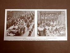 Londra nel 1924 Visita dei Sovrani di Romania Guildhall Inghilterra