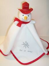 SECURITY BLANKET CARTERS -- LET IT SNOW SNOWMAN  -- NWOT