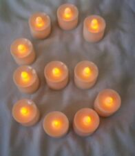 6 pcs Orange Flameless Flickering LED Candle Tea Light Party Decoration Supplies