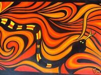 200cm wide Large original Art Oil Painting  Abstract Snake Australia By Jane
