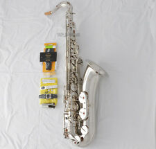 Professional TaiShan Tenor Saxophone Silver Sax B-Flat With Case Metal Mouth