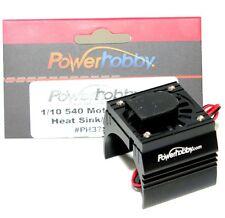 Powerhobby 1/10 Aluminum Brushless Motor Cooling Fan Black : Hobbywing