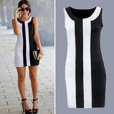 Womens Ladies Bodycon Clubwear Party Cocktail OL Slim Tunic Short Mini Dress AU