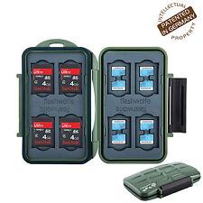 Turtle-SD8MSD16G spritzwasserdichte Schutzbox f. 8 Stück SDHC & 16 Stück MicroSD