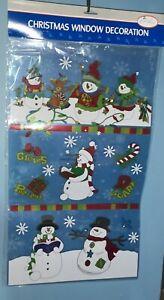 Christmas Window Decoration Santa Snowmen Reindeer - New and sealed