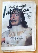 Andy Warhol's Interview Newspaper Magazine May 1973,Candy Darling,John Waters.