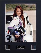 Lindsay Lohan Herbie Signed Film Cell Presentation