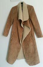 Cappotto DONNA MADE IN ITALY spessa imbottito Taglia Small Giacca lunga donna casual beige
