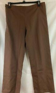 NWT Landau Urbane Scrubs Women's Drawstring Scrub Pants  XS Tall, Brown #9502