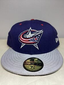 New Era 59Fifty NHL Columbus Blue Jackets Fitted Hat Sz 7 7/8