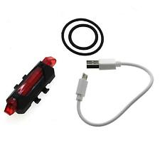 USB Rechargeable LED Bicycle Bike Tail Light Reflector Safety Lamp Taillight New