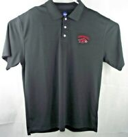 EUC! Arkansas Razorbacks College Polo Shirt Mens LG NCAA Branded / Black