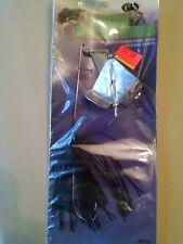 HAWG RETRIEVERS BUZZ BAIT 3/8oz double silver blade, black blue flake skirt