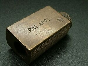 UNUSUAL PATENT APPLIED FOR CHANGEABLE SML PENCIL SHARPENER DUX BRASS VINTAGE 625