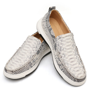 New Mens Snakeskin Pattern Loafers Shoes Slip on Driving Moccasins Soft Casual L