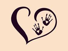 Palms Love  HEART WALL Home VINYL DECAL DIE CUT DECOR STICKER 20x24CM