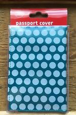 Blue Spot Luxury Passport Cover/New With Tags/Holds Uk Passport/Travel/Polka Dot