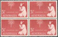 Australia 1957 SG298 3½d Xmas block MNH