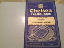 Football programme Chelsea v Manchester United 1955/56 4 pager