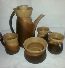 SIAL CANADA PIERRE LEGAULT CAFETIERE 2 TASSES CREMIER COFFEE POT SET STONEWARE