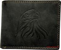 Hochwertige Geldbörse Geldbeutel Portemonnaie Büffel Leder Adler Wild Börse