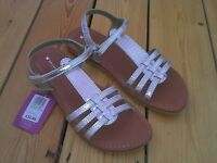 John Lewis Silver Leather Oriana Sandals UK 5 BNWT RRP £23