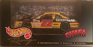 Hot Wheels Select Vehicles #22 Ward Burton 1:43 Caterpillar Diecast Car NASCAR