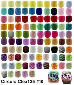 Circulo CLEA125 Crochet Soft Cotton Yarn Thread Variegated & Solid #10 125m
