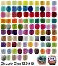 CLEA125 Crochet Soft Cotton Yarn Knitting Thread Solid Variegated #10 125m