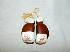 """VTG 1976 Montreal Summer Olympic Games boxing gloves Mini 4"""" Souvenir Canada"""