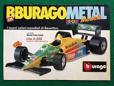 OC52 Pubblicità Advertising Clipping 19x13 cm (80s) BENETTON FORD BBURAGO