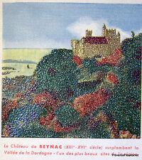 CHATEAU DE BEYNAC   1957 TIMBRE FRANCE  Premier Jour  FDC  Yt 1127