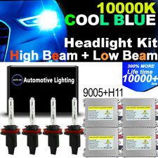 4X HID Xenon Headlight Combo Kit 9005 + H11 10000K High Beam Low Beam DSV 55W