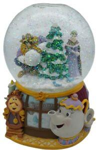 Beautiful Disney Enesco Beauty and the Beast Musical Waterglobe Snow Globe