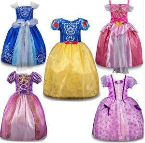 Kids Girls Princess Costume Fairytale Dress Up Snow white Rapunzel Cinderella