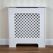 Oxford Radiator Cover Small White Natural MDF Traditional Grill Heat Guard Cover