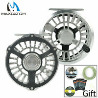 Maxcatch 3/4/5/6/7/8wt Waterproof Fly Fishing Reel Carbon Fiber +Aluminum Hybrid