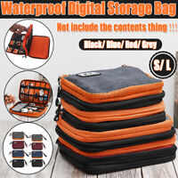 Travel Cable Bag Organizer Charger Storage Electronics USB Case Accessories S/ L