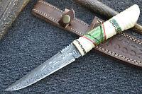"Huntex 1 of Kind Handmade Damascus 10"" Long Hunting Unique Bush Craft Knife"