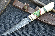 "Huntex 1 of Kind Handmade Damascus 10"" Long Hunting Unique Bush Craft Knife"