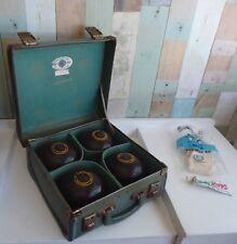 Vintage Ford Sherington Bowling Bag & 4 Super-Grip Championship Henselite Bowls